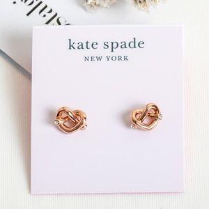 Kate Spade Loves Me Knot Earrings(Rose Gold)